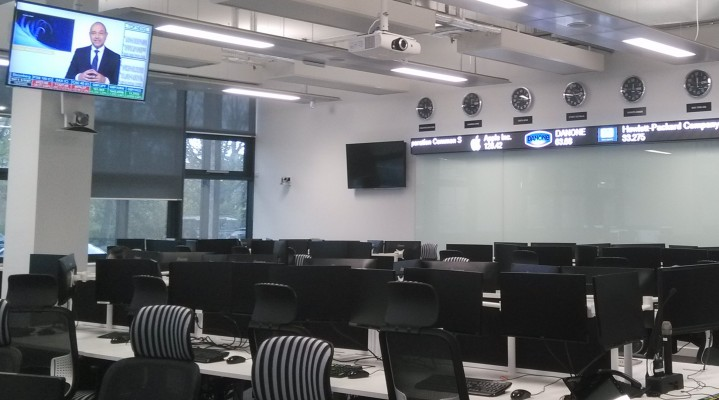 In Cardiff Business School's Trading Room